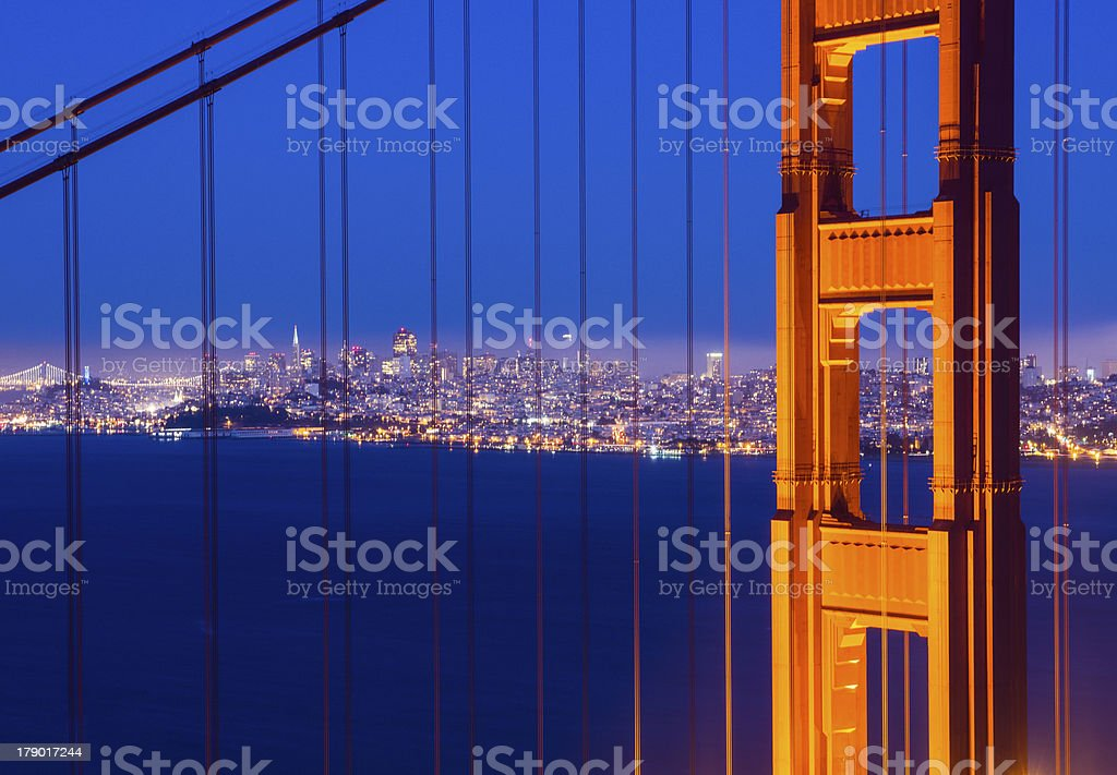 San Francisco Post Closeup royalty-free stock photo