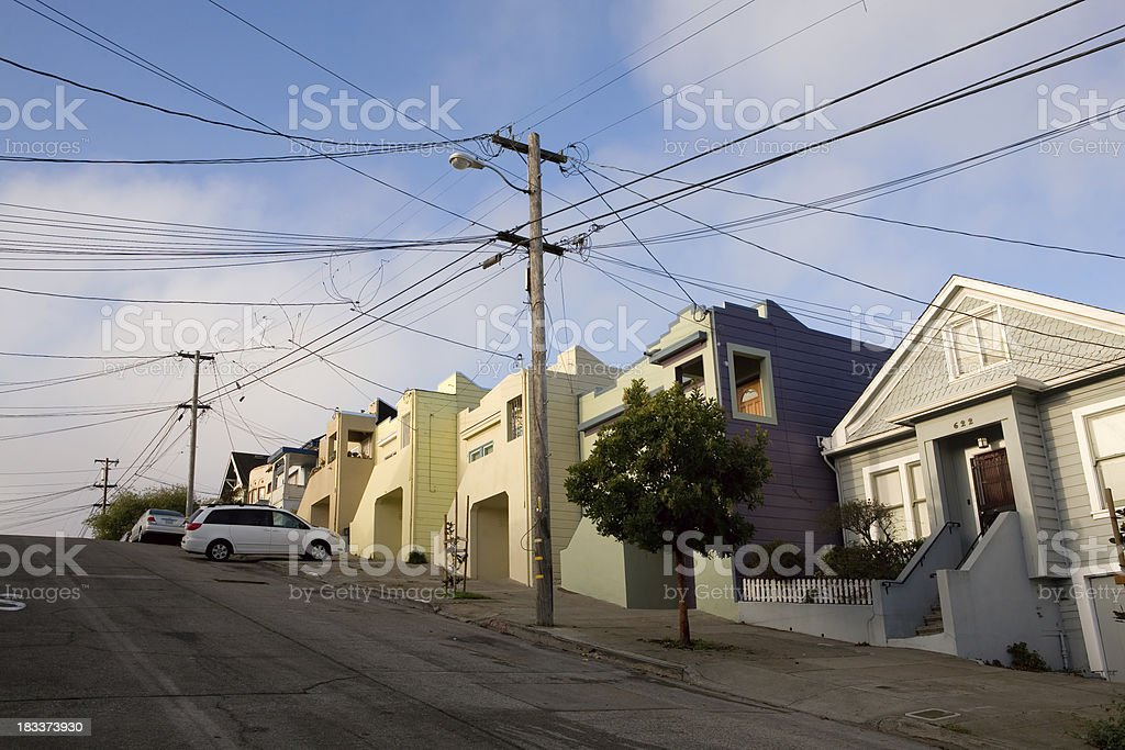 San Francisco Row Houses stock photo