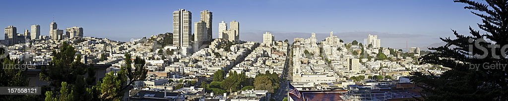San Francisco Russian Hill North Beach streets cityscape panorama California royalty-free stock photo