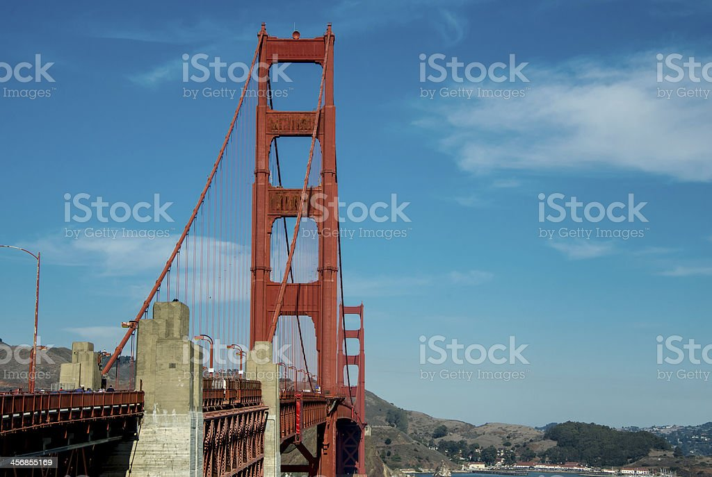San Francisco Side of Golden Gate Bridge royalty-free stock photo