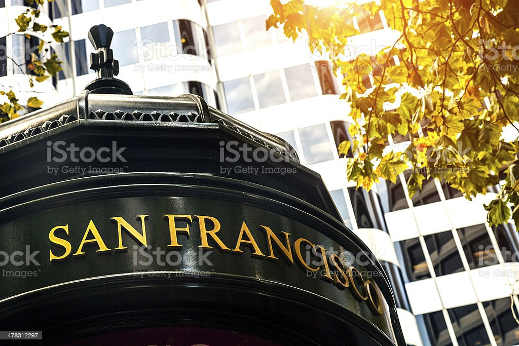 San Francisco sign in downtown royalty-free stock photo