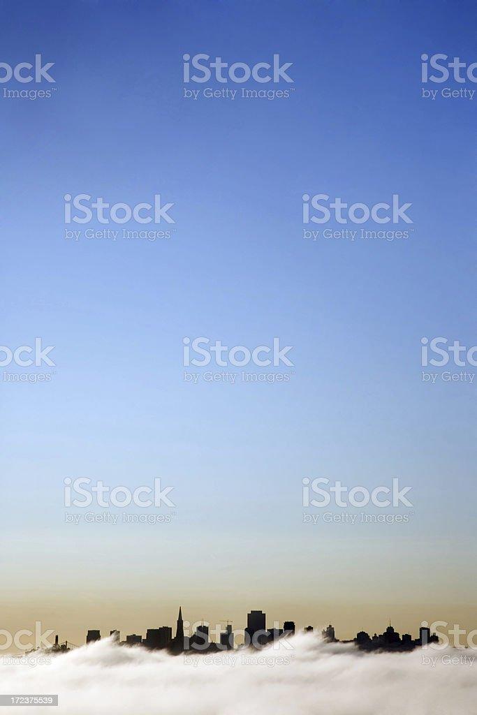 San Francisco Silhouette-Vertical stock photo