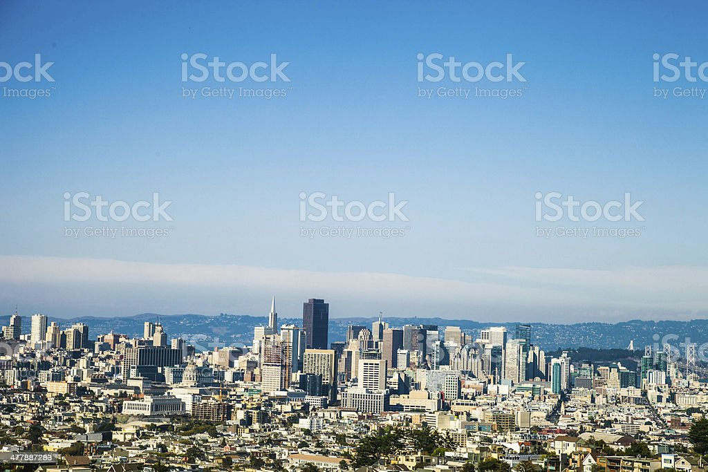 San Francisco skyline aerial view royalty-free stock photo