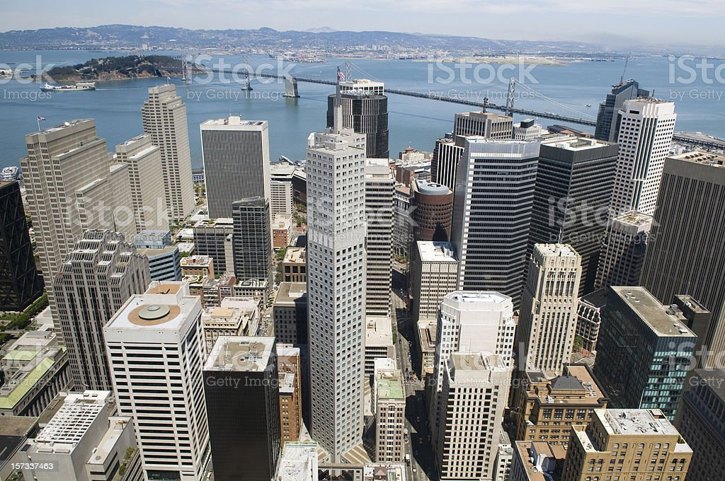 San Francisco Skyline From Above royalty-free stock photo