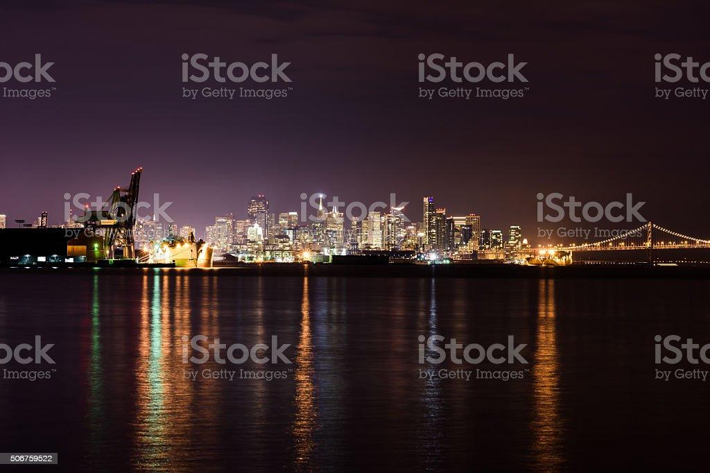 San Francisco Skyline from Hunters Point stock photo