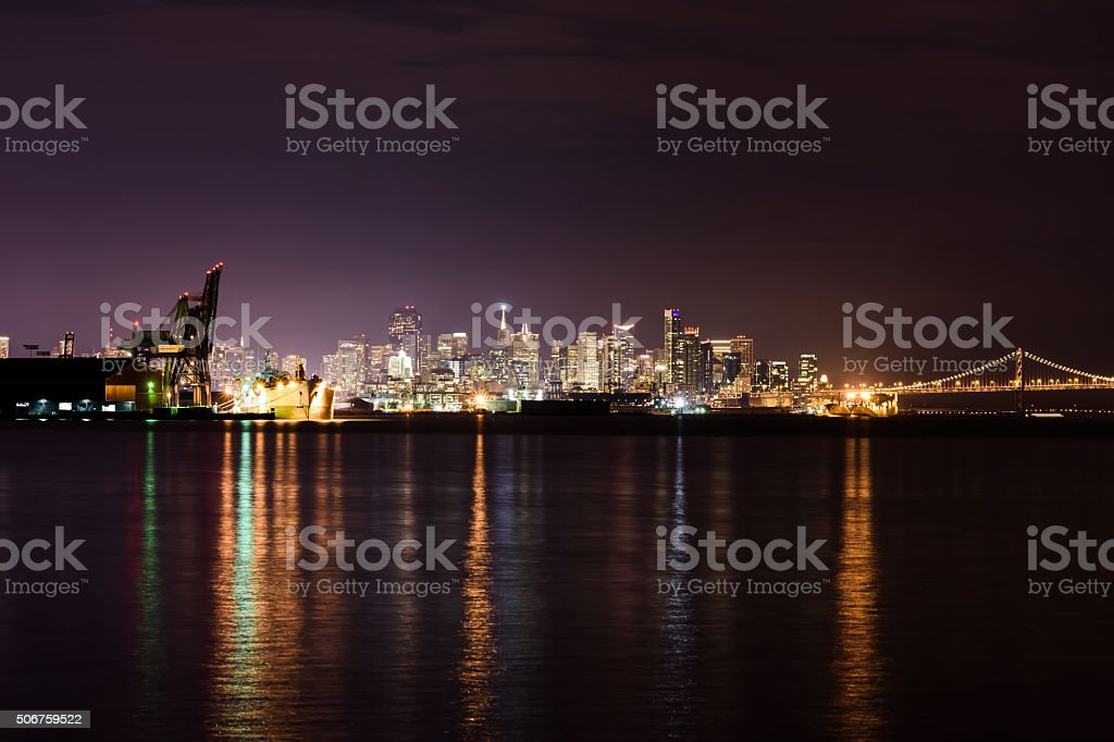 San Francisco Skyline from Hunters Point stock photo
