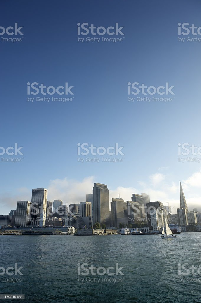 San Francisco Skyline from the Bay royalty-free stock photo