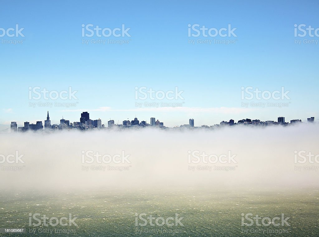 San Francisco Skyline in Fog royalty-free stock photo