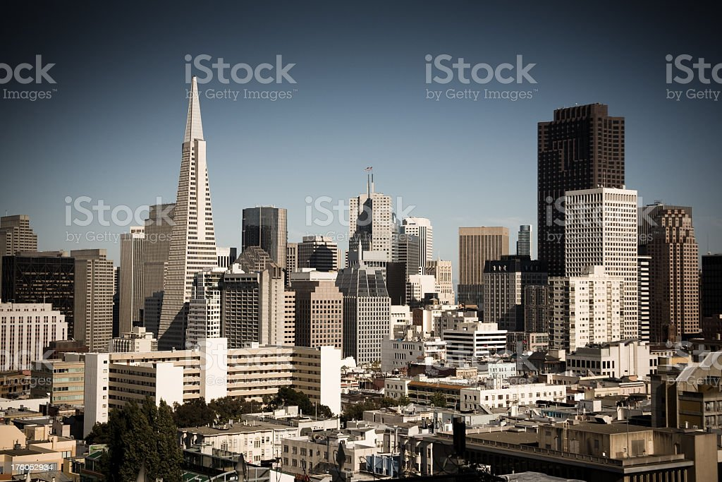 San Francisco Skyline Looking East royalty-free stock photo