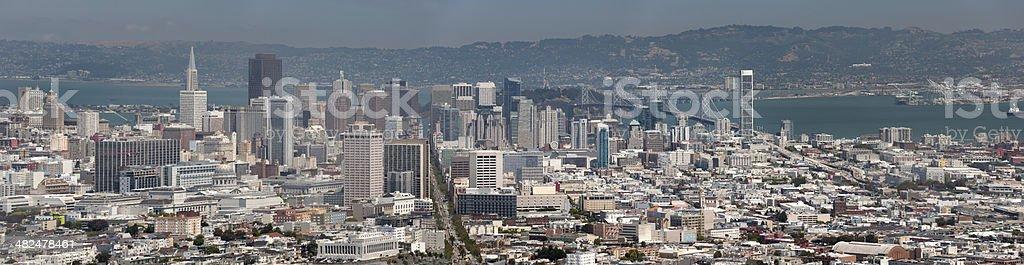 San Francisco Skyline Panorama stock photo