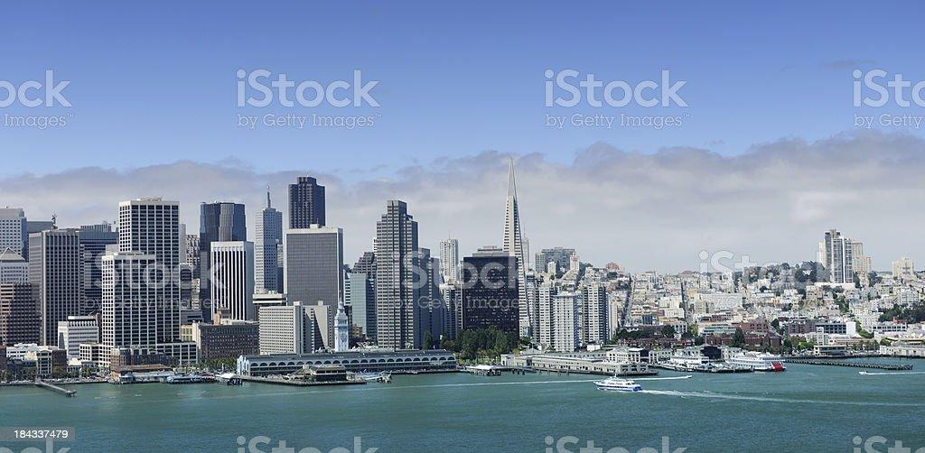 San Francisco Skyline Panoramic View from Bay Bridge (XXL) stock photo