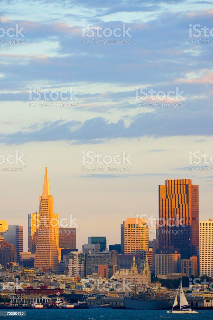 San Francisco Skyline View at Sunset stock photo