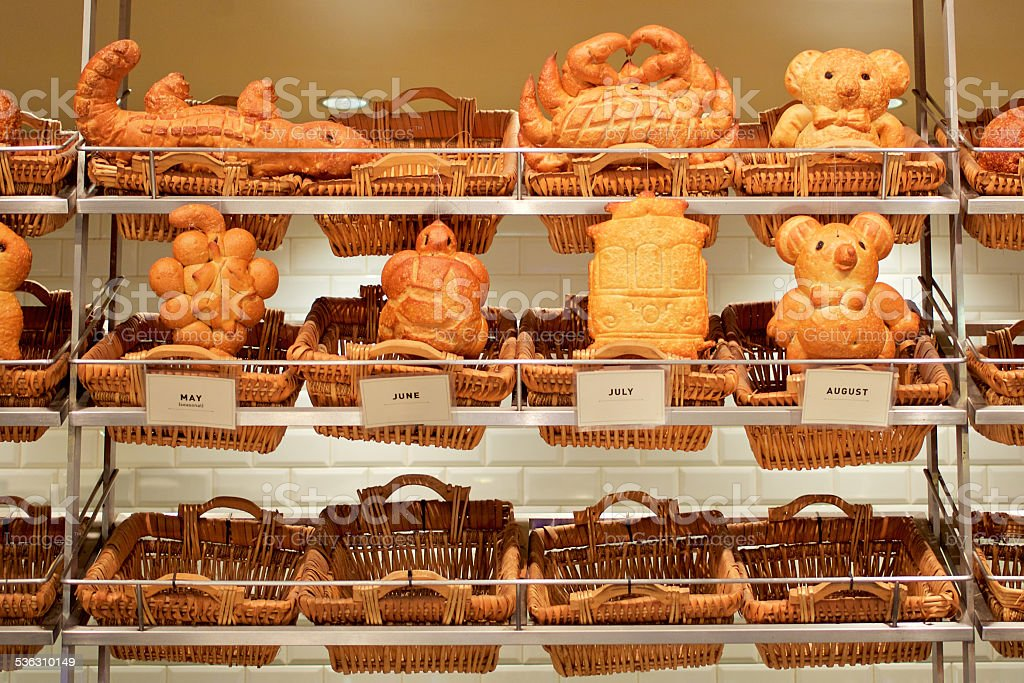 San Francisco sourdough bread bear stock photo