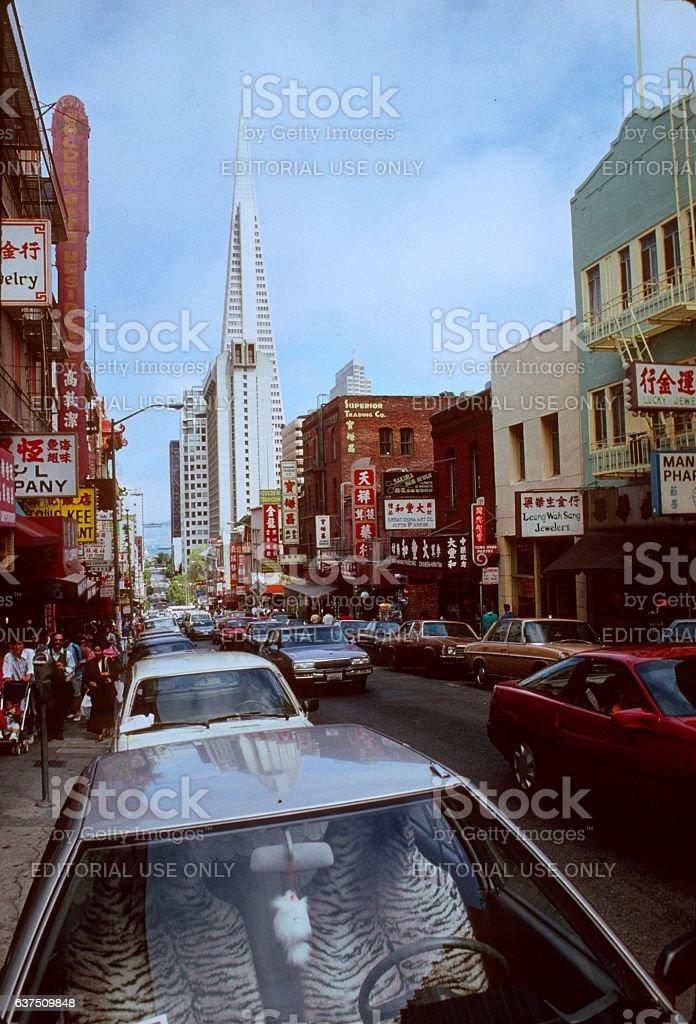 San Francisco, Street scene 1983 stock photo
