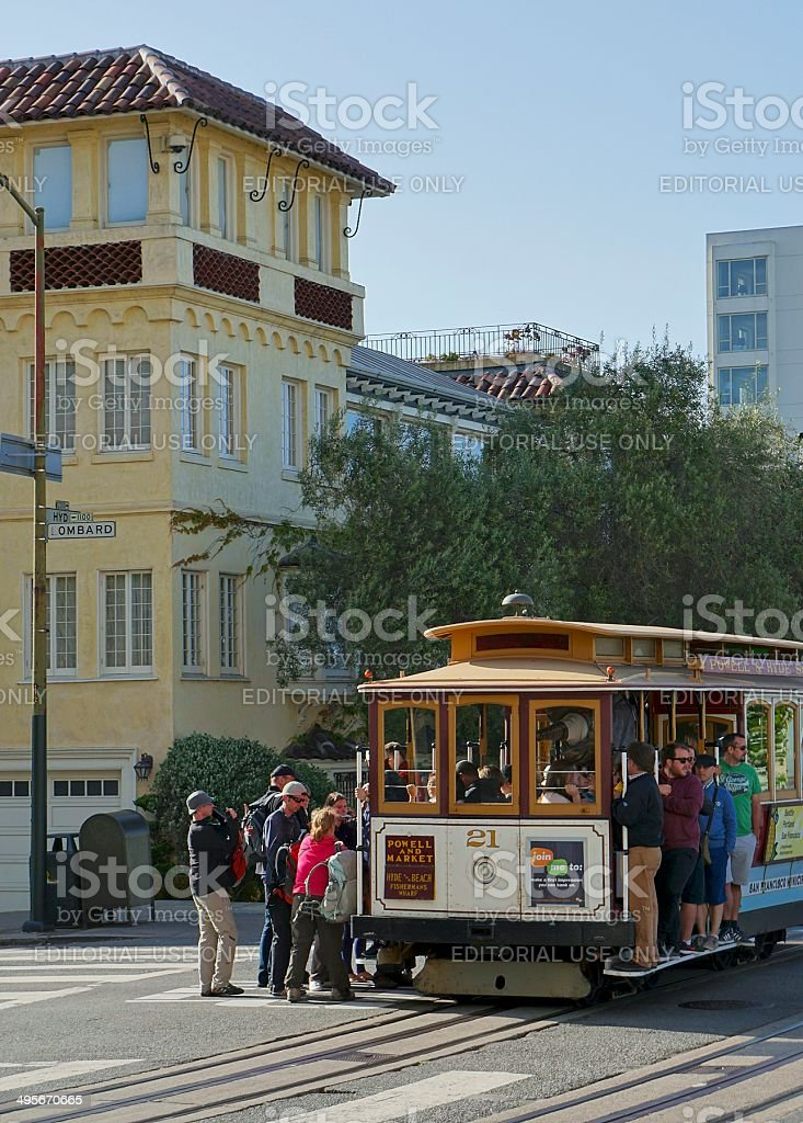 San Francisco Street Scene royalty-free stock photo