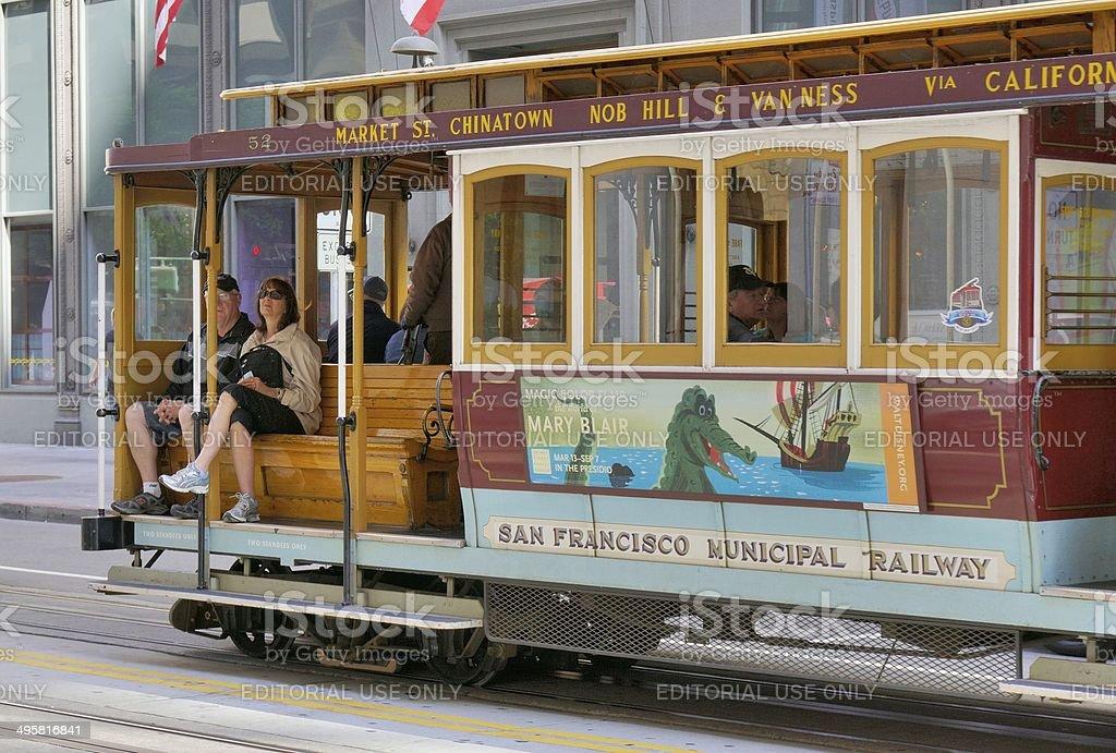 San Francisco Street Scene royalty-free stock photo