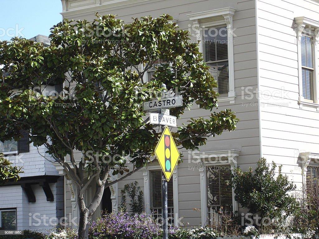 San Francisco street scene stock photo