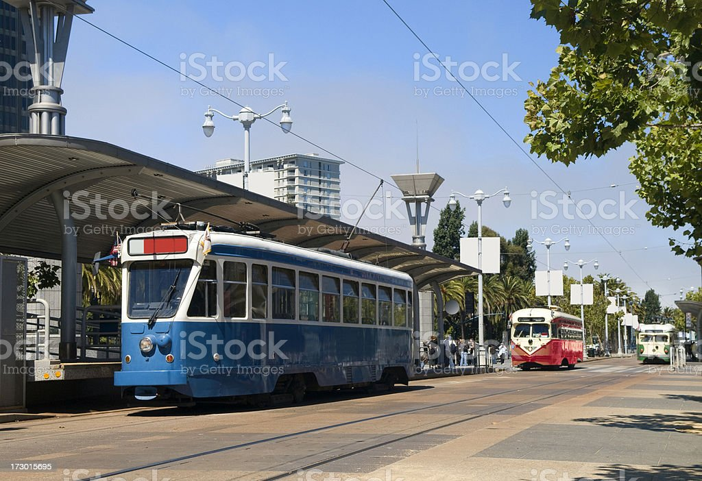 San Francisco Streetcars royalty-free stock photo