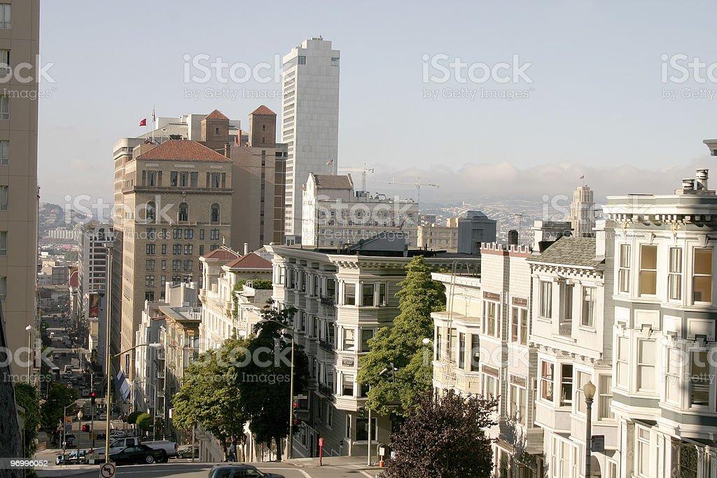 San Francisco streetview stock photo