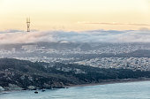 San Francisco Sunrise and Low Fog On the West Side