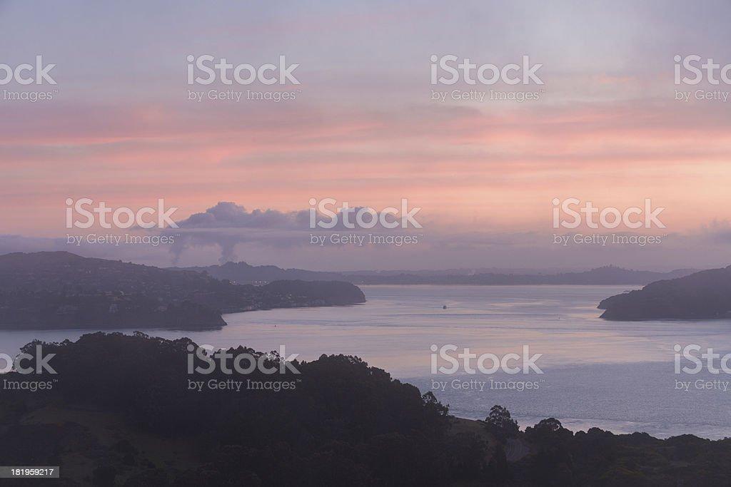 San Francisco Sunrise, California royalty-free stock photo
