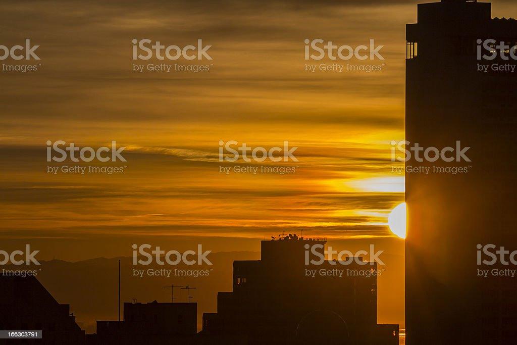 San Francisco Sunrise royalty-free stock photo