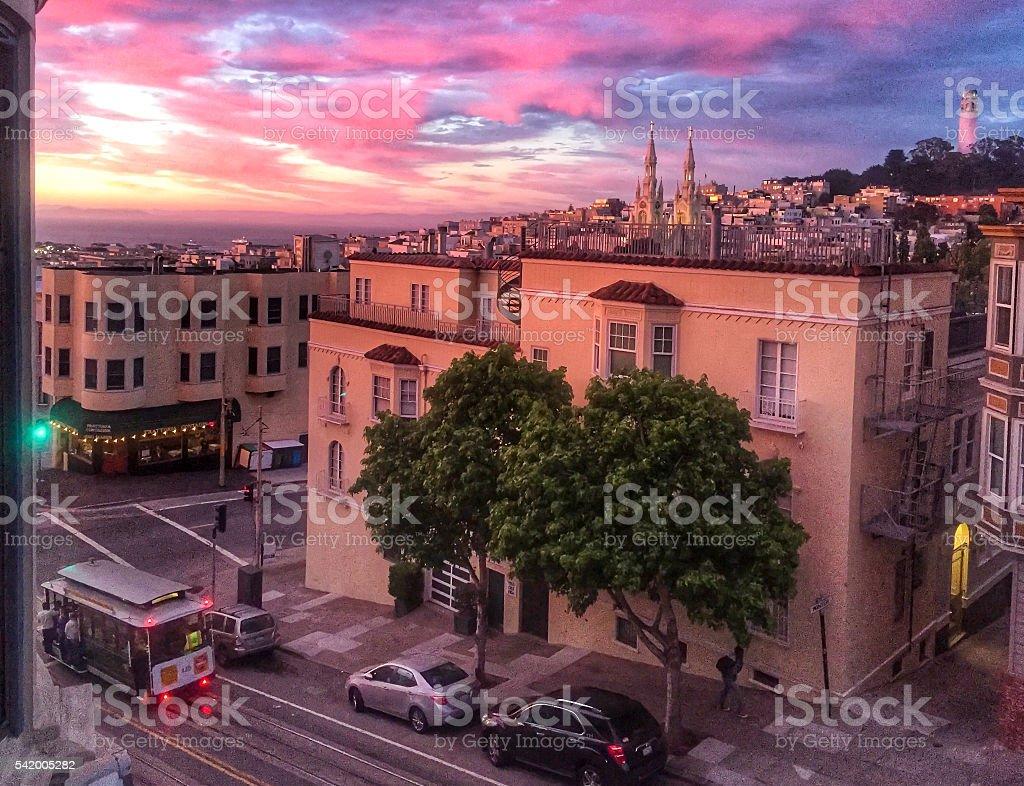 San Francisco Sunset stock photo