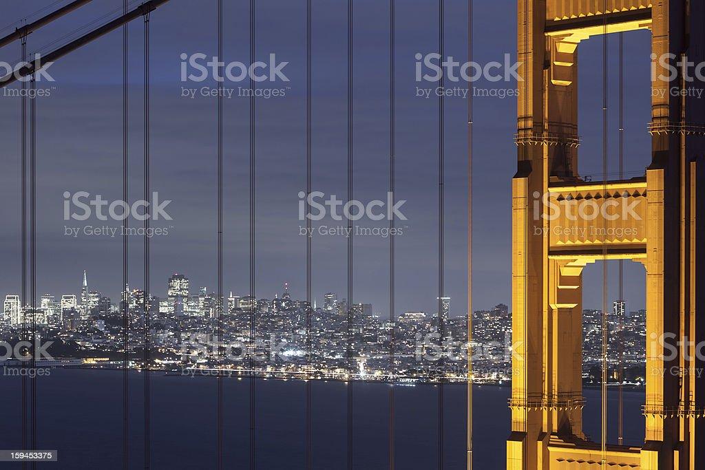 San Francisco through the Bridge royalty-free stock photo
