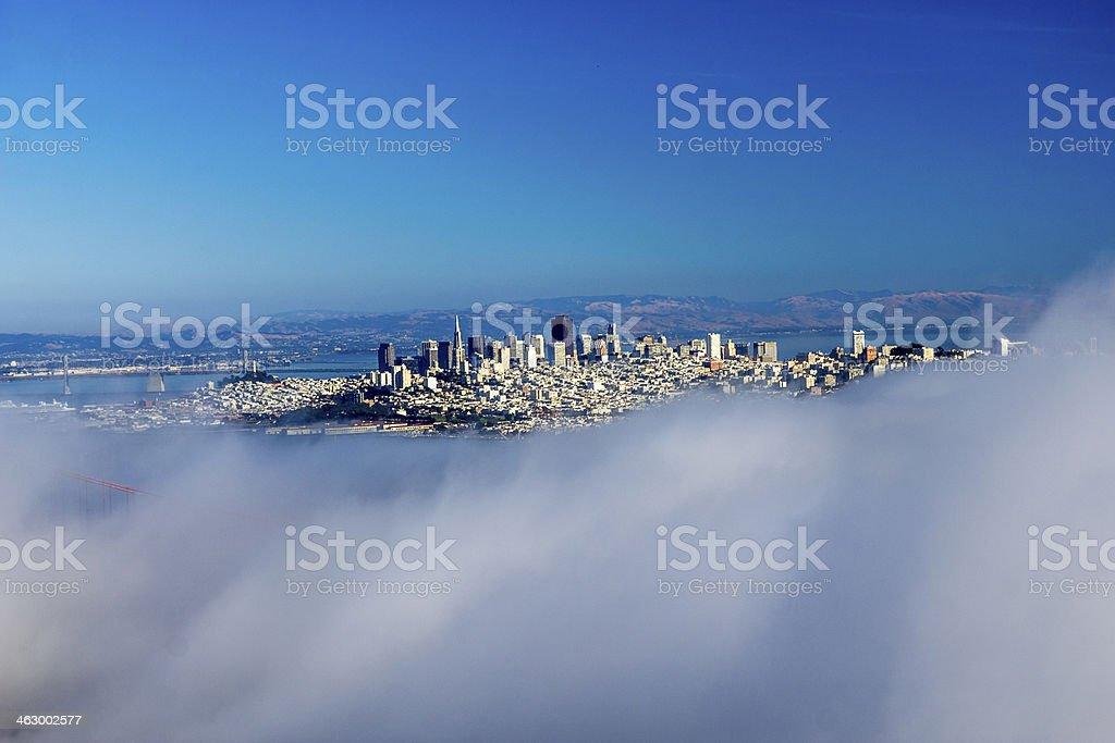 San Francisco Through The Golden Gate and fog stock photo