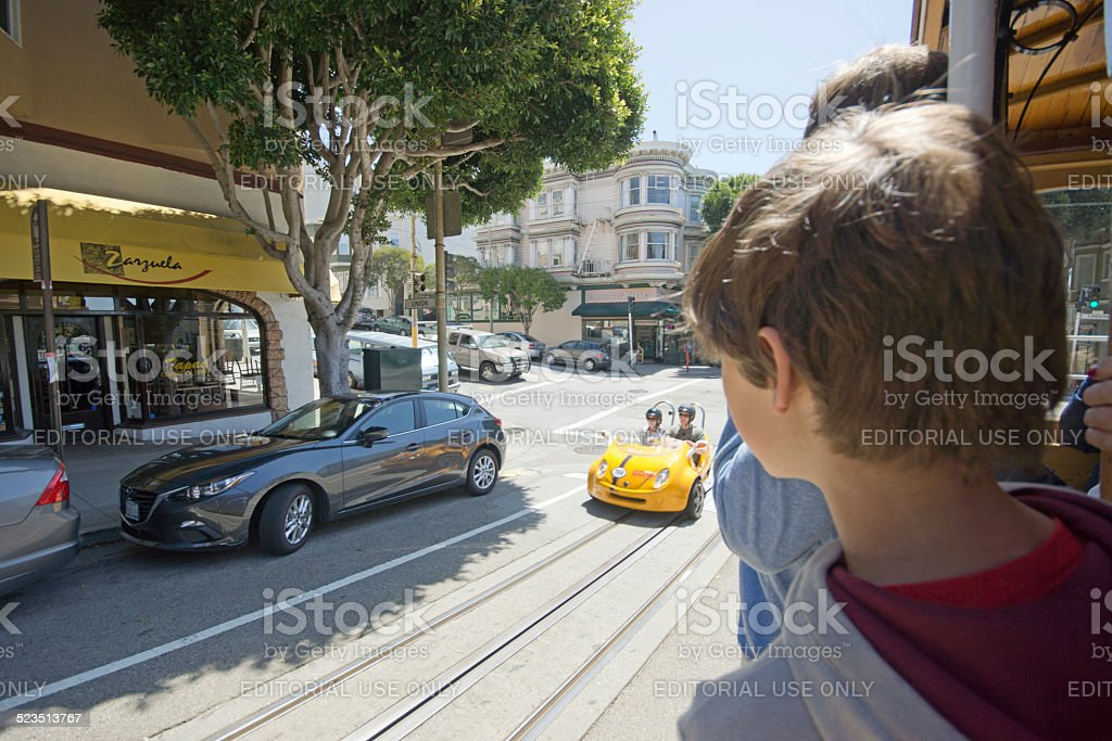 San Francisco Tourist vehicle stock photo