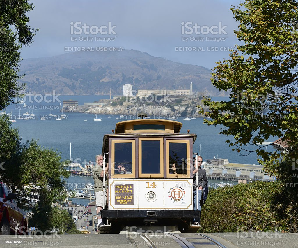 San Francisco Tram in the USA royalty-free stock photo
