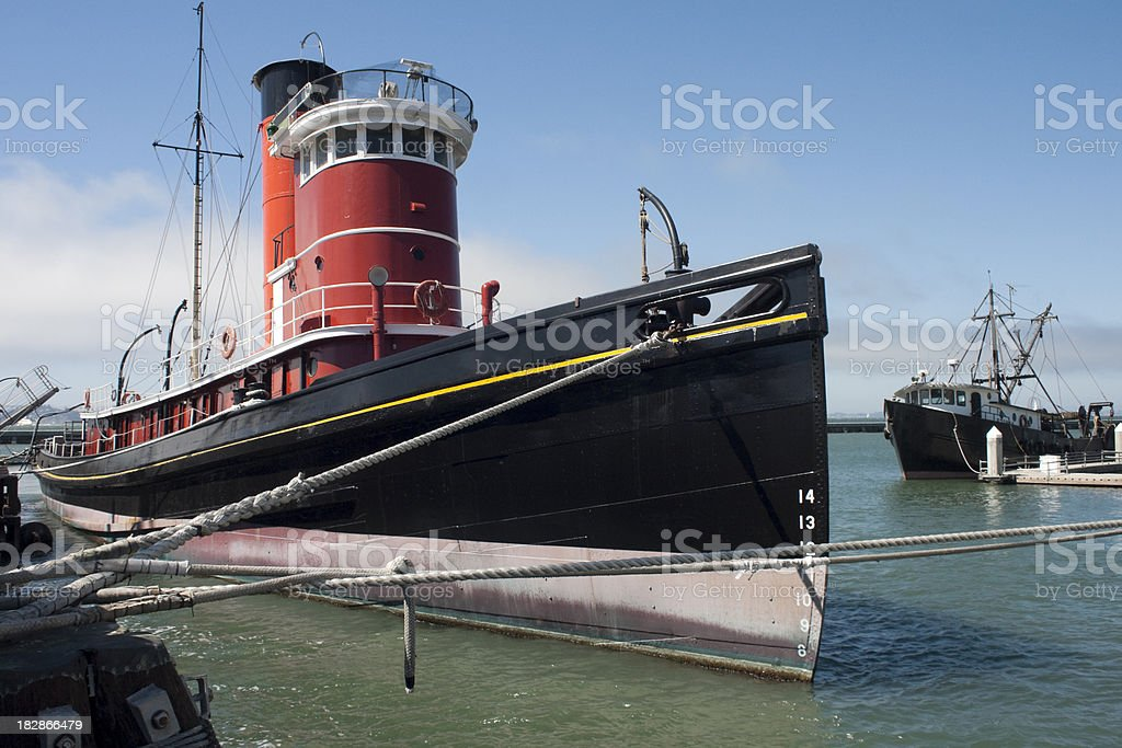 san francisco tug boats at the pier royalty-free stock photo