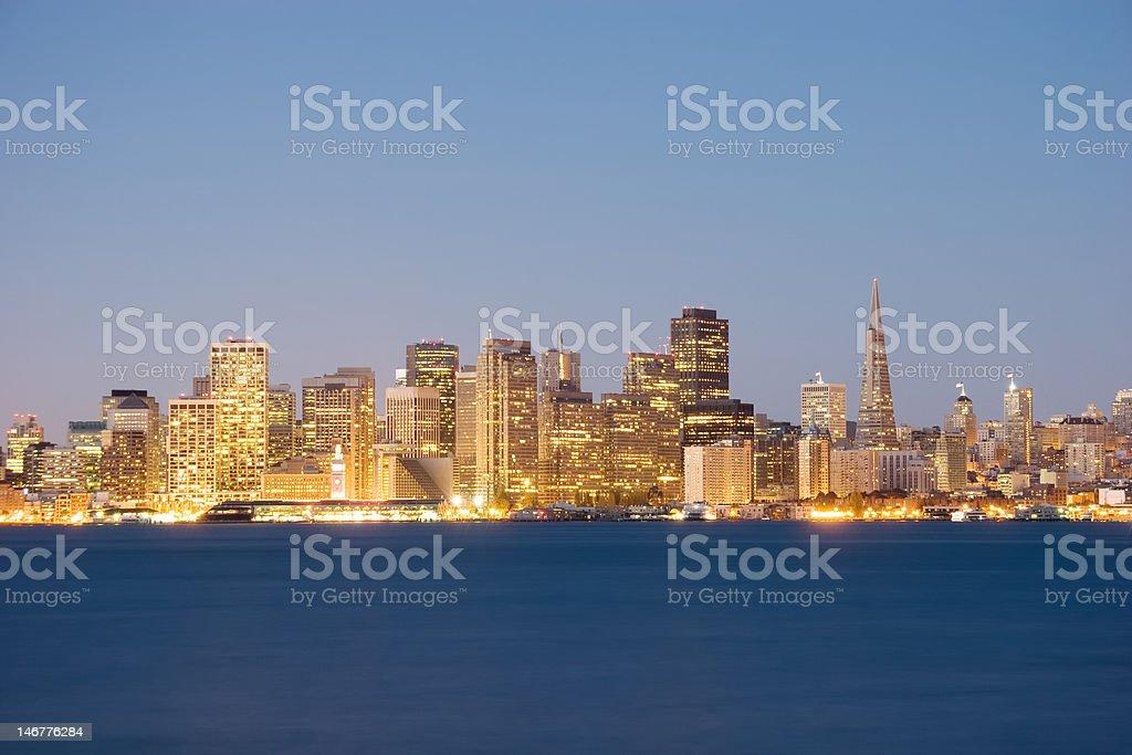 Penumbra de San Francisco foto de stock libre de derechos