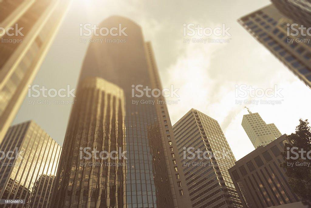 San Francisco urban scene skyscraper - Usa royalty-free stock photo