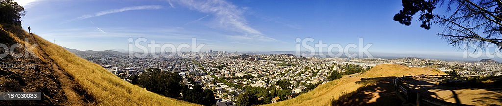 San Francisco, viewed from Bernal Heights stock photo