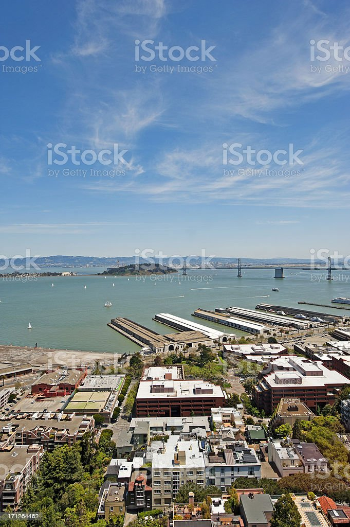 San Francisco views from above stock photo