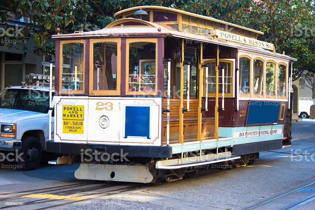 San Francisco vintage Streetcar, Tram No.23 stock photo