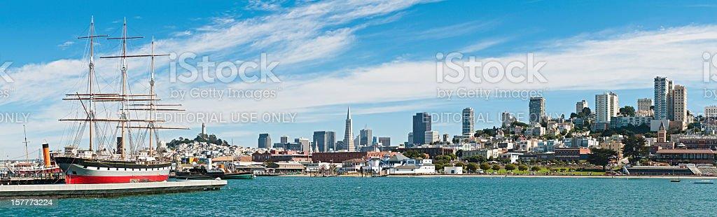 San Francisco waterfront panorama California stock photo