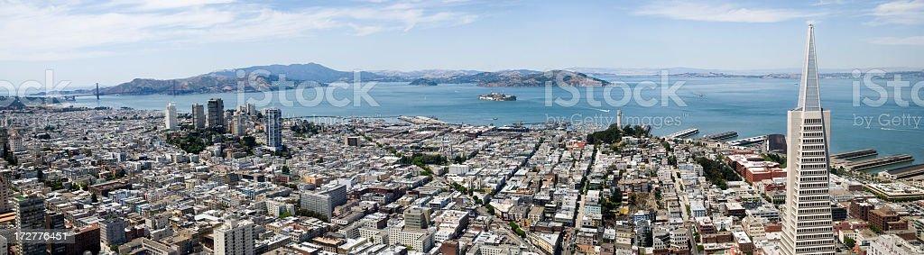 San Francisco XXL Panorama royalty-free stock photo