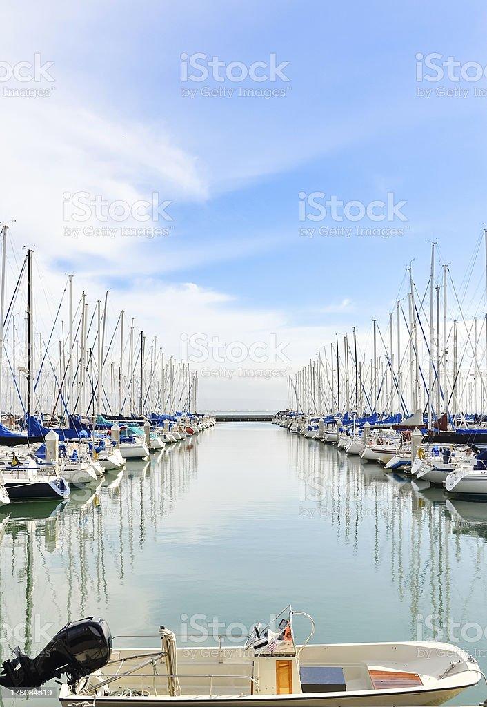 San Francisco Yacht Harbor royalty-free stock photo