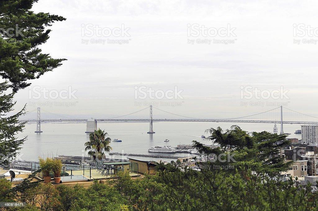 San Francisco–Oakland Bay Bridge royalty-free stock photo