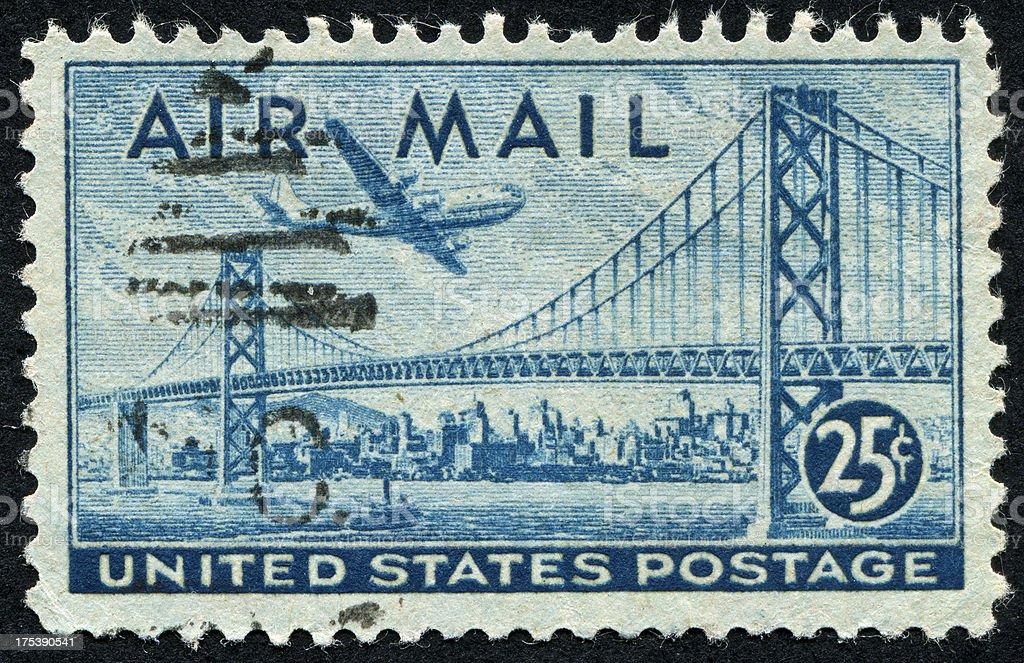 San Francisco-Oakland Bay Bridge Stamp royalty-free stock photo