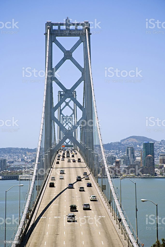 San Francisco-Oakland Bay Bridge: Suspension Section royalty-free stock photo