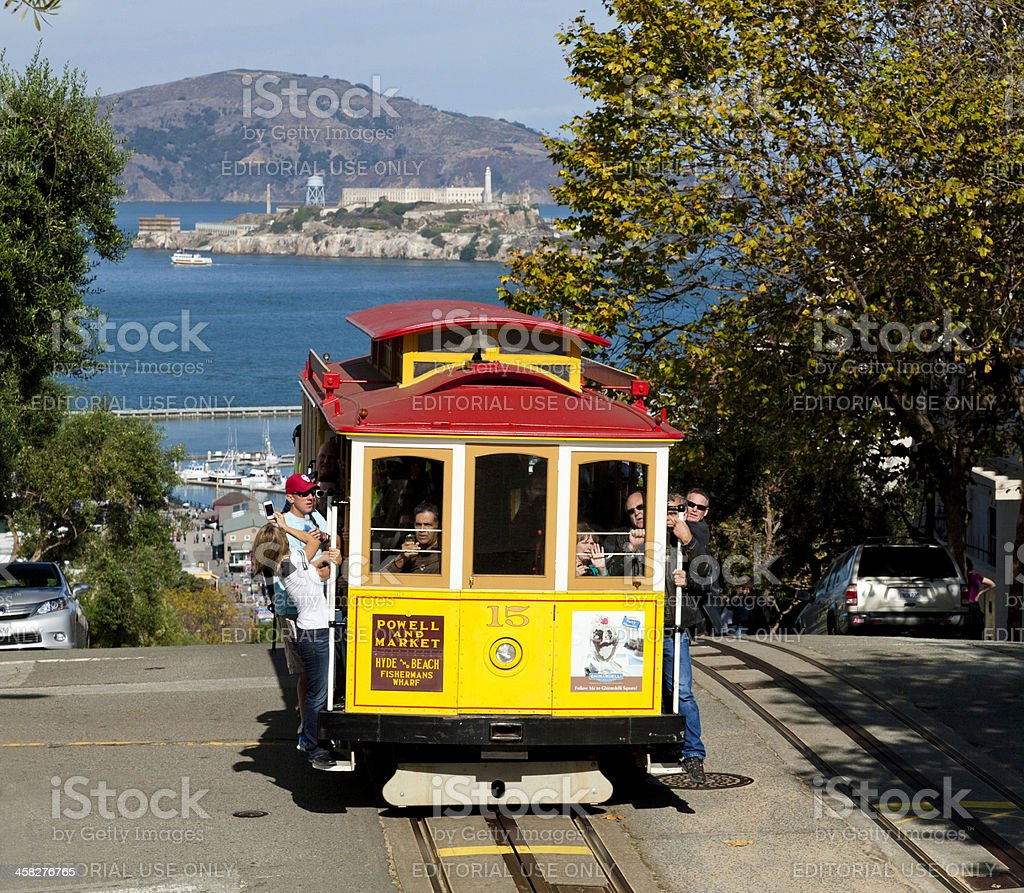 San Francisco-The Cable car tram stock photo
