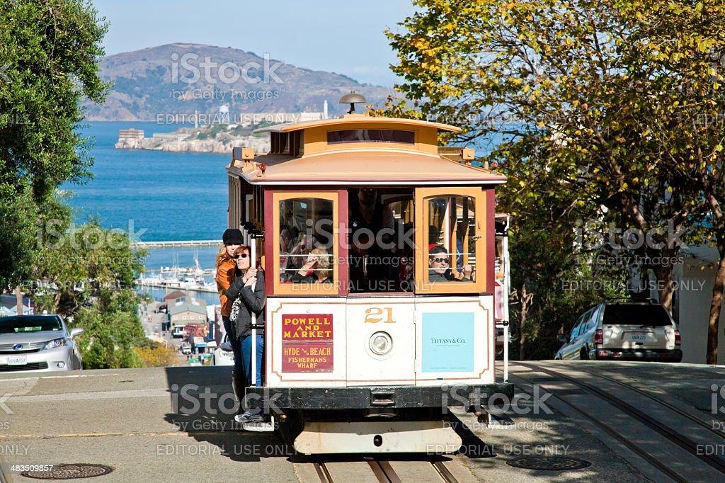 San Francisco-USA,  The Cable car tram stock photo
