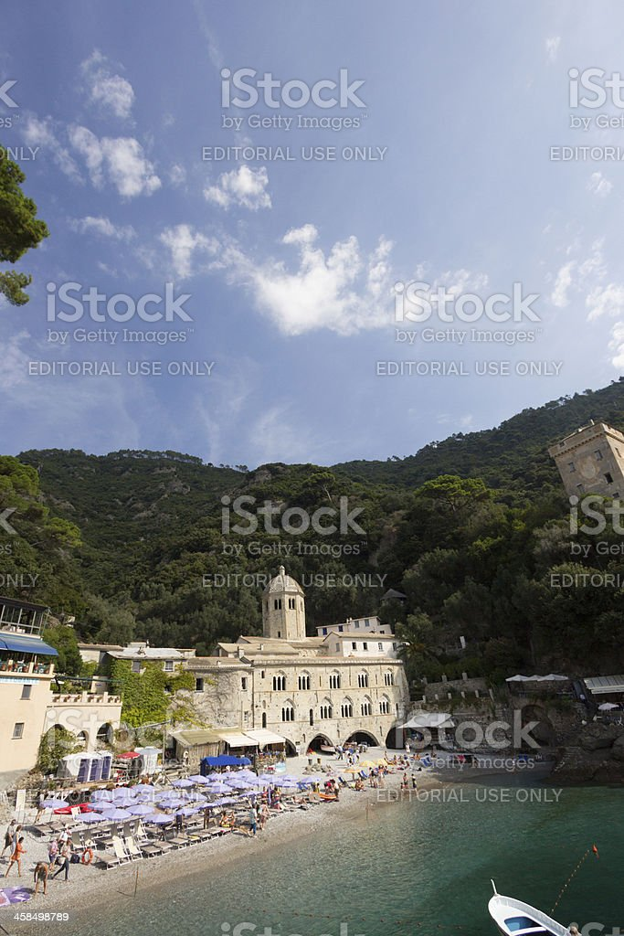 San Fruttuoso on the Riviera di Levante, Italy royalty-free stock photo
