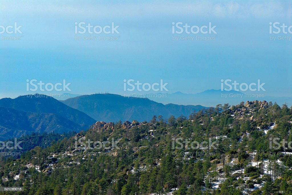 San Gabriel Mountains stock photo