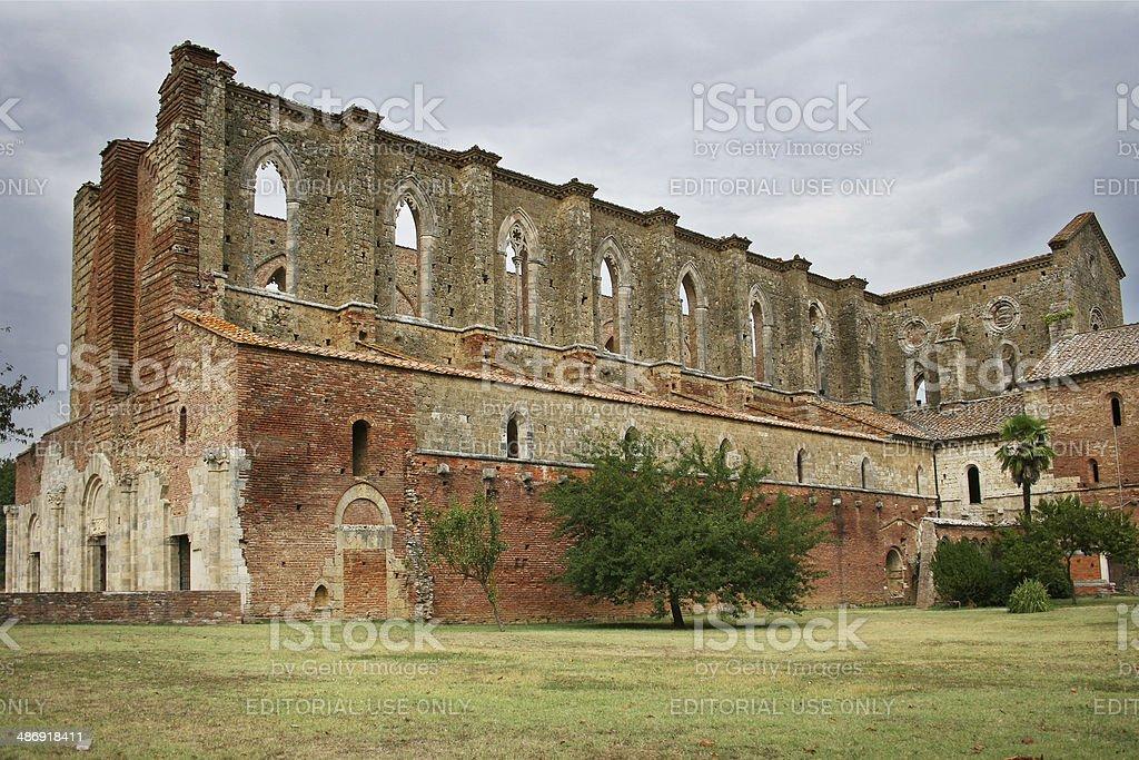 San Galgano Abbey royalty-free stock photo
