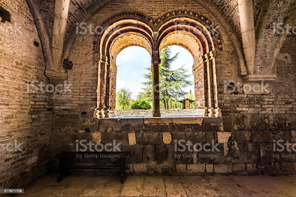 San Galgano Abbey stock photo