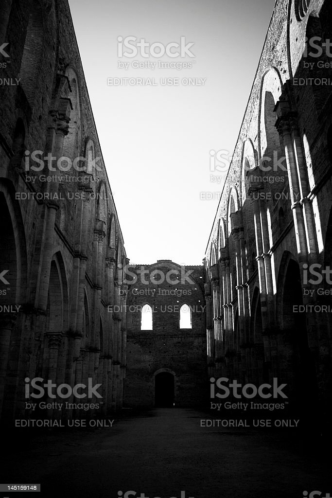 San Galgano church royalty-free stock photo